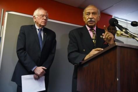 Bernie Sanders (I-VT) and John Conyers Jr. (D-MI)